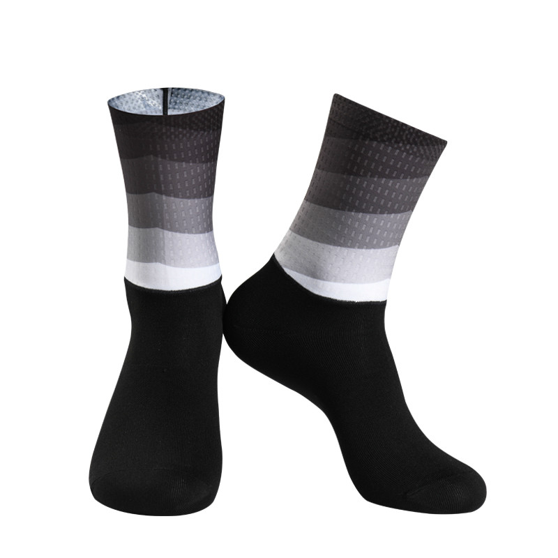 Gradient Color Silicone Anti Slip Cycling Socks Men Women Sports Running Bike Bicycle Socks