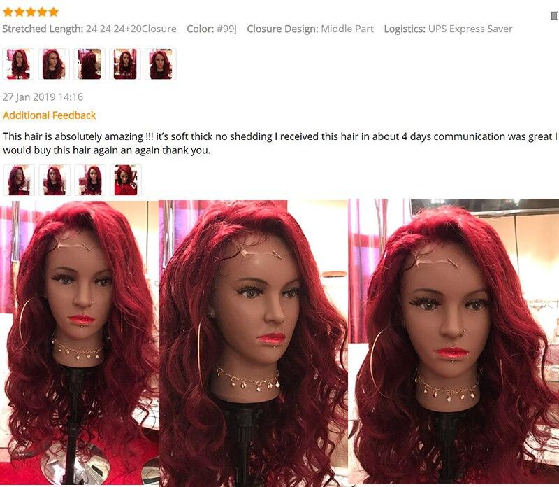 HTB1lZSYRH2pK1RjSZFsq6yNlXXaf Pinshair 99J Hair Red Burgundy Bundles With Closure Brazilian Body Wave Human Hair Weave Bundles With Closure Non Remy No Tangle