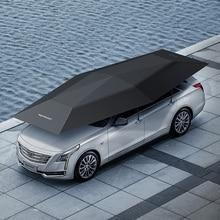 1 adet OEM LOGO 4.5 metre araba kılıfı otomatik araba gölge şemsiye çadır Anti UV koruma araba aksesuarları ile kablosuz denetleyici