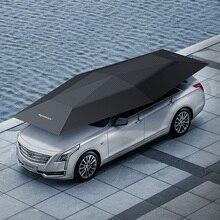 1 stücke OEM LOGO 4,5 Meter Auto Abdeckung Automatische Auto Sonnenschirm schatten Zelt Anti Uv schutz auto zubehör mit wireless controller