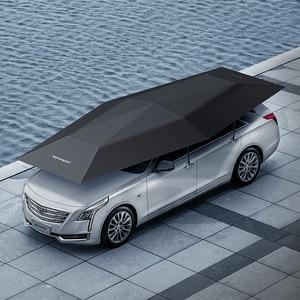 Image 1 - 1pcs OEM 로고 4.5 미터 자동차 커버 자동 차 그늘 우산 텐트 안티 자외선 보호 자동차 액세서리 무선 컨트롤러