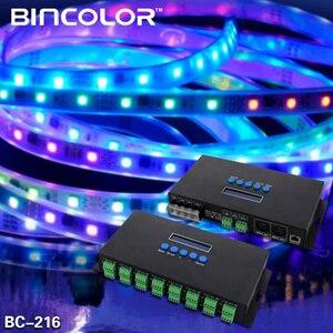 Image 5 - جديد Artnet إيثرنت إلى SPI/DMX بكسل مصباح ليد تحكم BC 216 DC5V 24V 3Ax16CH دعم Artnet/Artnet و sACN E.1.31 بروتوكول