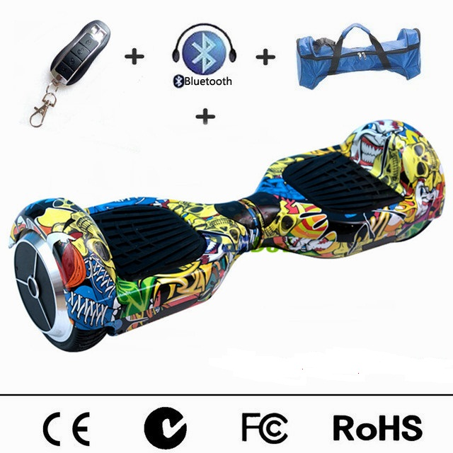 France Stock 6.5 inch Hoverboard Electric Skateboard Self Balancing Scooter Smart balance Wheel hover board Remote Controller popular big electric one wheel unicycle smart electric motorcycle high speed one wheel scooter hoverboard electric skateboard