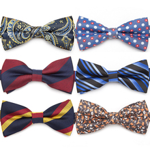 IHGSNMB Stripe Bow Tie Formal Wedding Butterfly Cravat Bowtie Male Ties for Men Business Bowties Fashion Mens