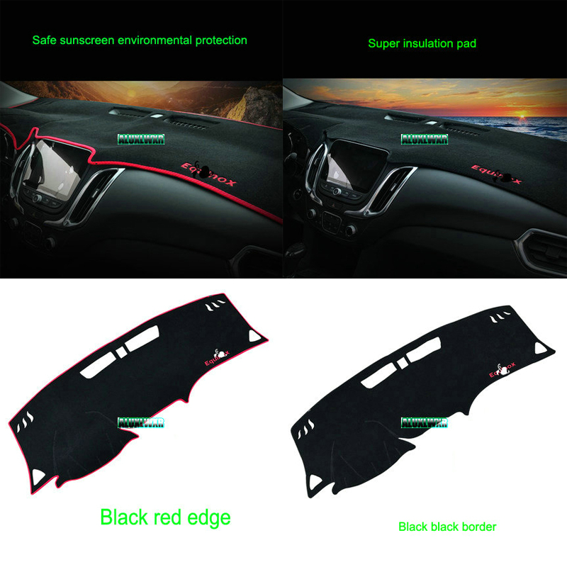 Car dashboard Avoid light pad Instrument platform desk cover Mats Carpets For Chevrolet  ...