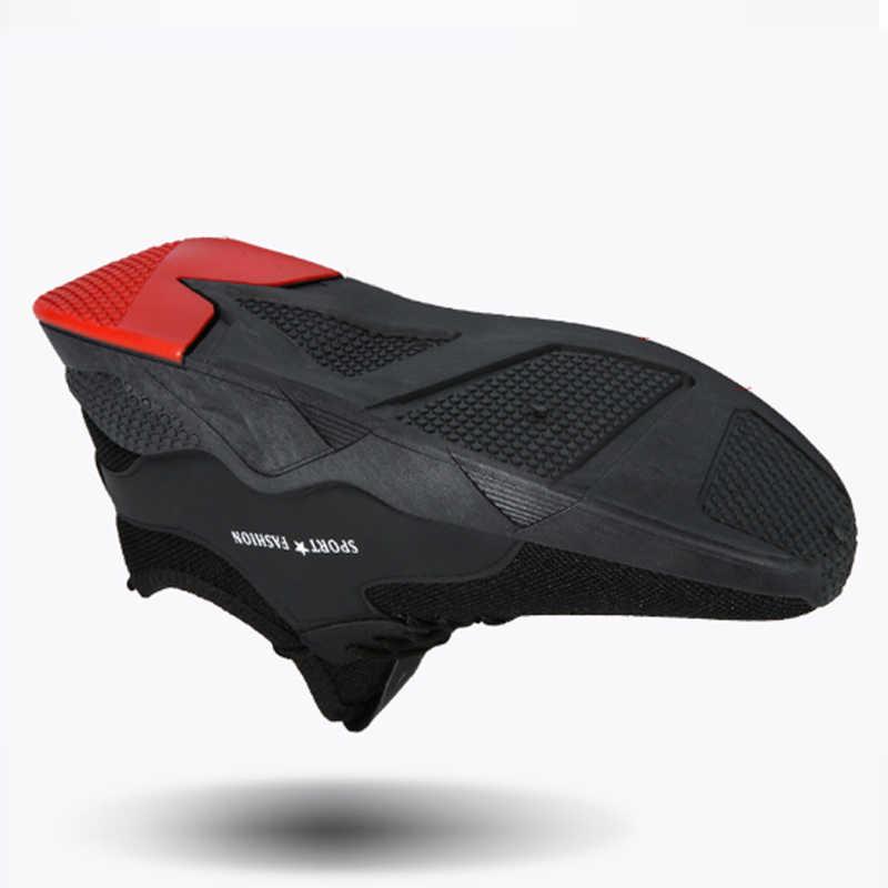LZJ Torridity czarne męskie buty wulkanizowane oddychające sportowe na co dzień męskie tenisówki siatkowe trenerzy płaskie buty Plus rozmiar 39-44