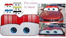 5 Colors Eyes Heated Windshield Sunshade Car Window Windscreen Cover Sun Shade Auto Sun Visor Car-covers