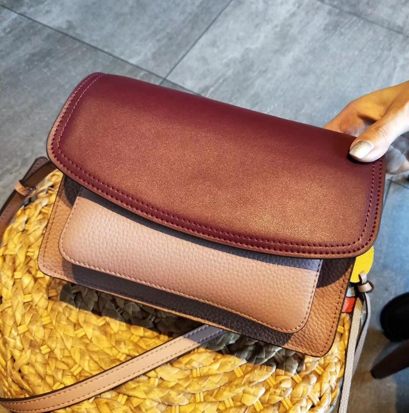 Новая высококачественная сумка через плечо из натуральной кожи, женская сумка, маленькая черная женская сумка мессенджер - 3