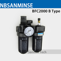 Sanmi Air Preparation Units AFC2000 BFC2000 1 4 3 8 1 2 Two Units Air Source