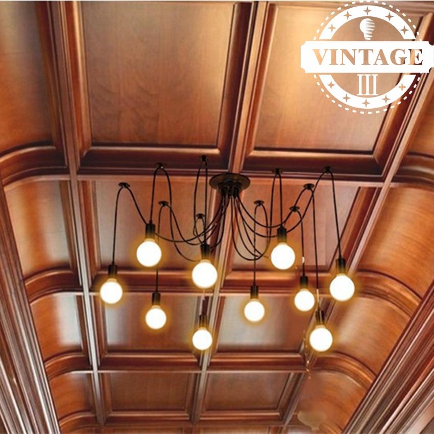 Colourful Bulbs Fixtures Spider Ceiling Lamp DIY Pendant ...