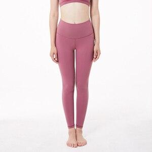 Image 3 - Soft Stretchy Nylon Push Up Leggings Women High Waist Fitness Pants Women Gym  Workout Legging Sexy