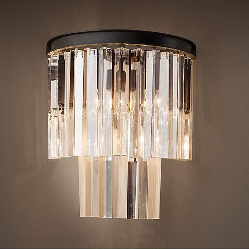 crystal wall sconce modern wall light indoor decorative lights lamp shades vintage led wall mount light bedroom sconce lighting