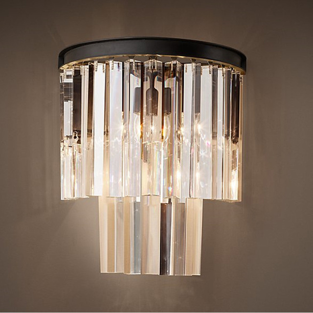 Crystal wall sconce modern wall light indoor decorative lights lamp crystal wall sconce modern wall light indoor decorative lights lamp shades vintage led wall mount light aloadofball Image collections
