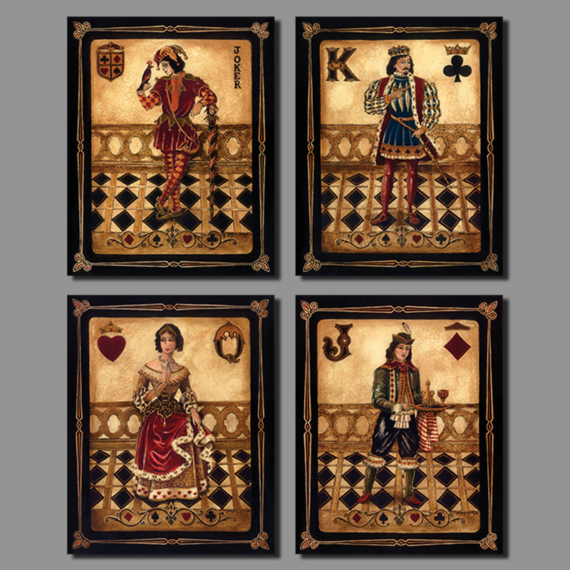 Joker queen king poker decoration playing card heart club for Decoration poker