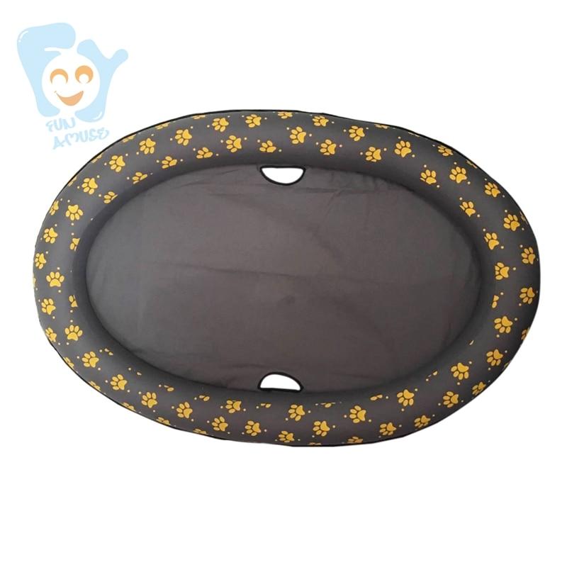 Tissu Durable d'oxford de matelas de flotteurs de piscine de jouets d'amusement de l'eau de chien d'animal familier de 140x90 cm grand avec l'impression - 2