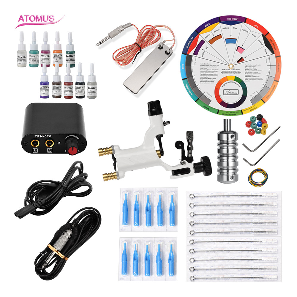 Kit dencre Tatoo Kit De tatouage professionnel Machine rotative Kalici Makyaj Setleri Tatuaje maquillage Permanent CompletKit dencre Tatoo Kit De tatouage professionnel Machine rotative Kalici Makyaj Setleri Tatuaje maquillage Permanent Complet