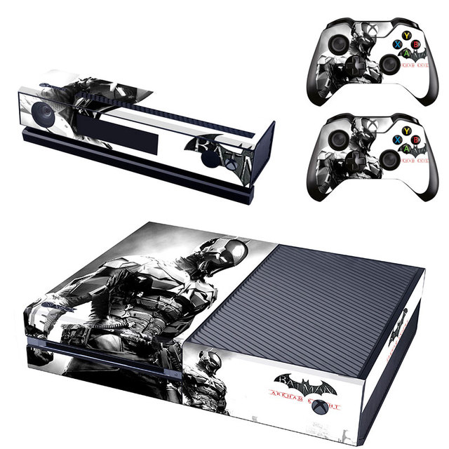 Batman arkham knight full protective skin sticker cover decal for xbox one console kinect and 2