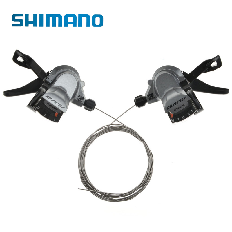 SHIMANO Bike Alivio Shifters Shift Levers SL-M4000 Rapidfire 3x9S Bike Bicycle Parts Cycling Shifters bicicleta Shift Levers free shipping new women boot cut jeans girls fashion bell bottom trousers mid waist flares pants size 25 32