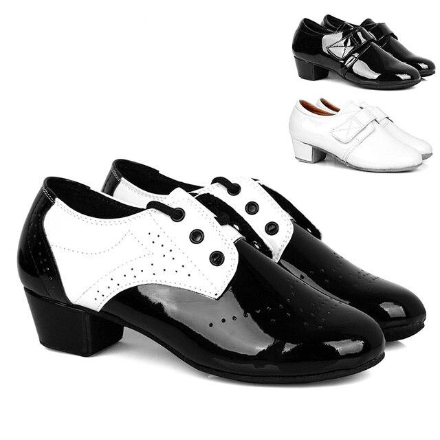 Gentleman shoes Modern Men's Ballroom Tango Latin Dance Shoes Man dance shoes PU leather shoes  for boy kids zapatos de baile
