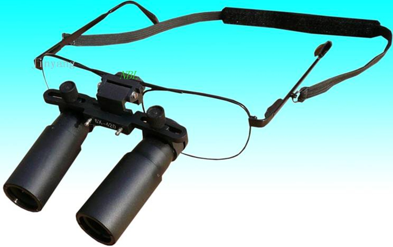 6X 420MM Dental Binocular Loupes Glasses 6x Magnifying Lens Kepler Magnifier Use For Surgical Dental Operations With Box-in Magnifiers from Tools    2