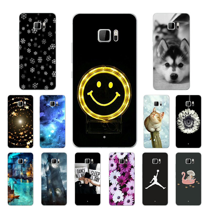 Soft TPU Cover for HTC U Ultra Case 5.7 Smiley Printing Soft Silicone Case Phone Cover for HTC U Ultra Protector Cases