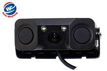 Автомобиль видео парковка Камера Сенсор заднего вида Камера с 2 Датчики индикатор Би сигнализации автомобилей Обратный радар помощь Системы