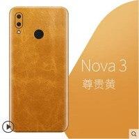 Huawei Nova 3 case Luxury Genuine leather Natural Thin sticker a skin Scratch proof fingerprint Cover for huawei nova 3 cover