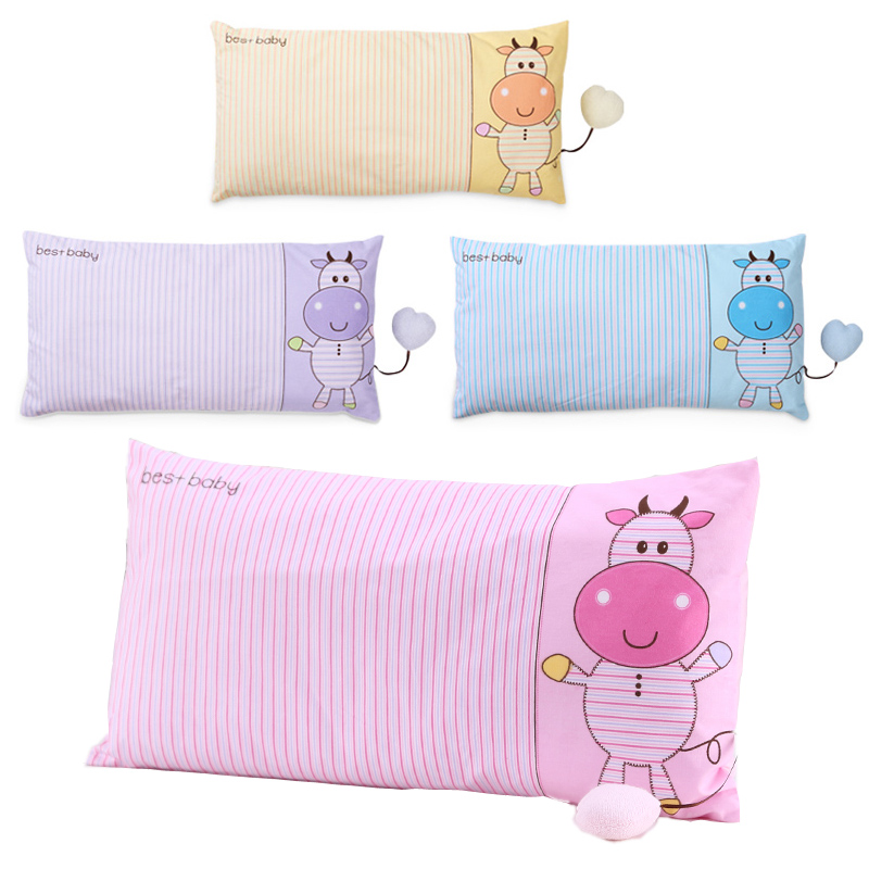 Baby Pillow Neck Pillow Toddler Soft Cotton Pillows Kids Striped Cute Calf Cartoon Character Pude Baby Care Products 0-4years