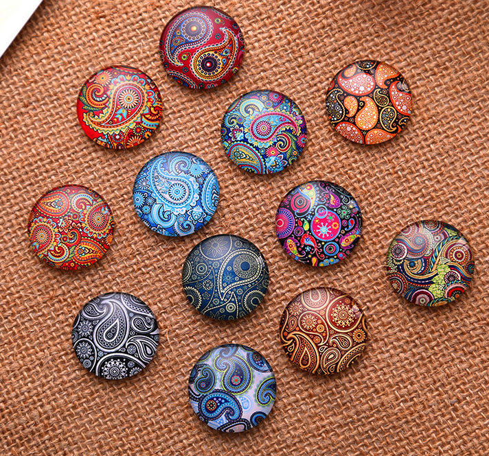 24pcs 12mm Individual character flowers pattern Round Handmade Photo Glass Cabochons & Glass Dome DIY Handmade Cabochon beads flowers butterflies pattern waterproof shower curtain