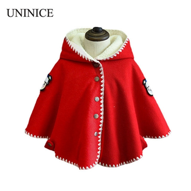 60 Winter Spring Fashion Kids Baby Cape Pattern Red Cotton Hooded Amazing Kids Cape Pattern