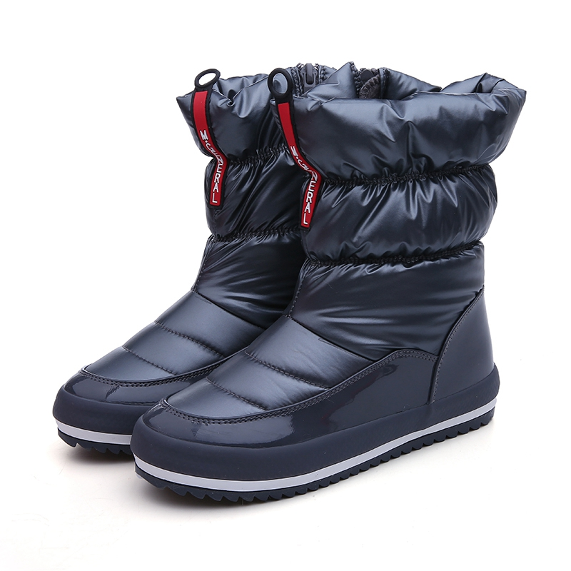 59e9aff1ee US $42.85 |Winter Snow Boots For Women Platform Casual Ankle Boots Ladies  Down Zip Waterproof Booties Warm Plush Shoes Female Zapatos Mujer-in Ankle  ...