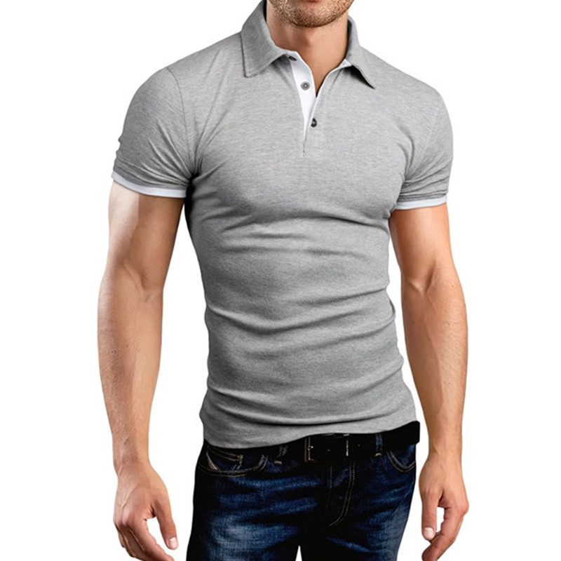 461eb163ce Roupa dos homens Camisas Gola Virada Para Baixo Camisa Polo Homme 2018 Mens Camisa  Pólo Curto-Luva Sólidos Magro Com Capuz Camisa plus Size