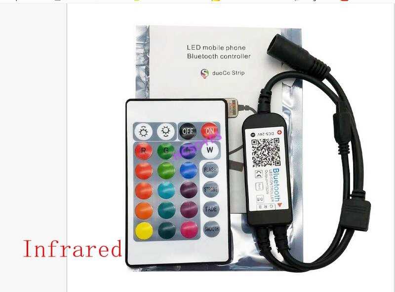 24key ir rf Bluetooth/na podczerwień/RGBW/USB/WIFI bezprzewodowy pilot kolorowe rgb LED kontroler taśmy komórkowy aplikacja TV tle ściany światło