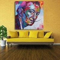 Salvador Dali граффити поп Книги по искусству картина маслом Уход за кожей лица портрет настенная живопись и Плакаты для гостиной украшения дома