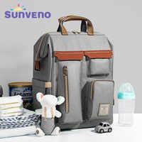 Sunveno bolsa de pañales mochila de gran capacidad bolsa de bebé para cochecito mochila para mamás viaje bolsa de pañales impermeable