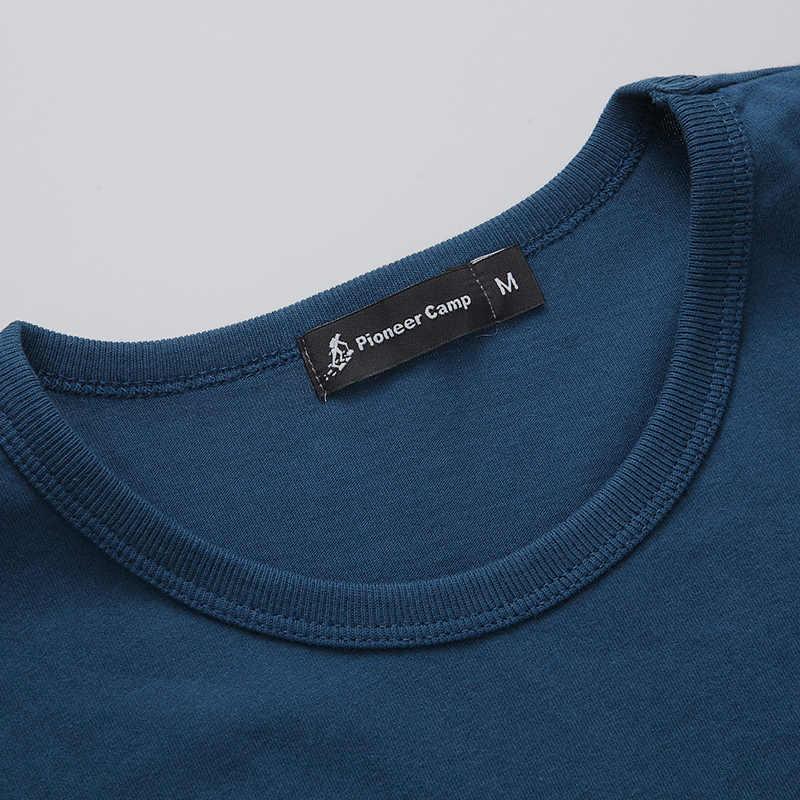 Пионерский лагерь модные летние короткие футболки мужская брендовая одежда удобная футболка мужская хлопок с принтом мужская одежда 522056