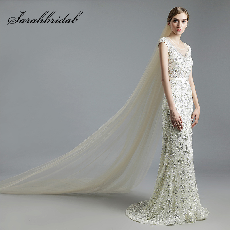 Elegant 2 Layer 3 M Long Wedding Veil With Comb High Quality Tulle Bride's Veils Cheap Wedding Accessories In Stock 11059