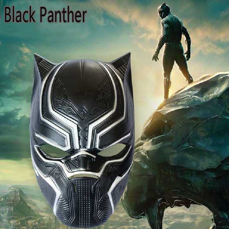 2019 Fashion Marvel Black Panther Mask Action Figure Toy Halloween Adult Children Party Show Cosplay Mask Helmet Toys Captain America Jouet Cleaning The Oral Cavity.