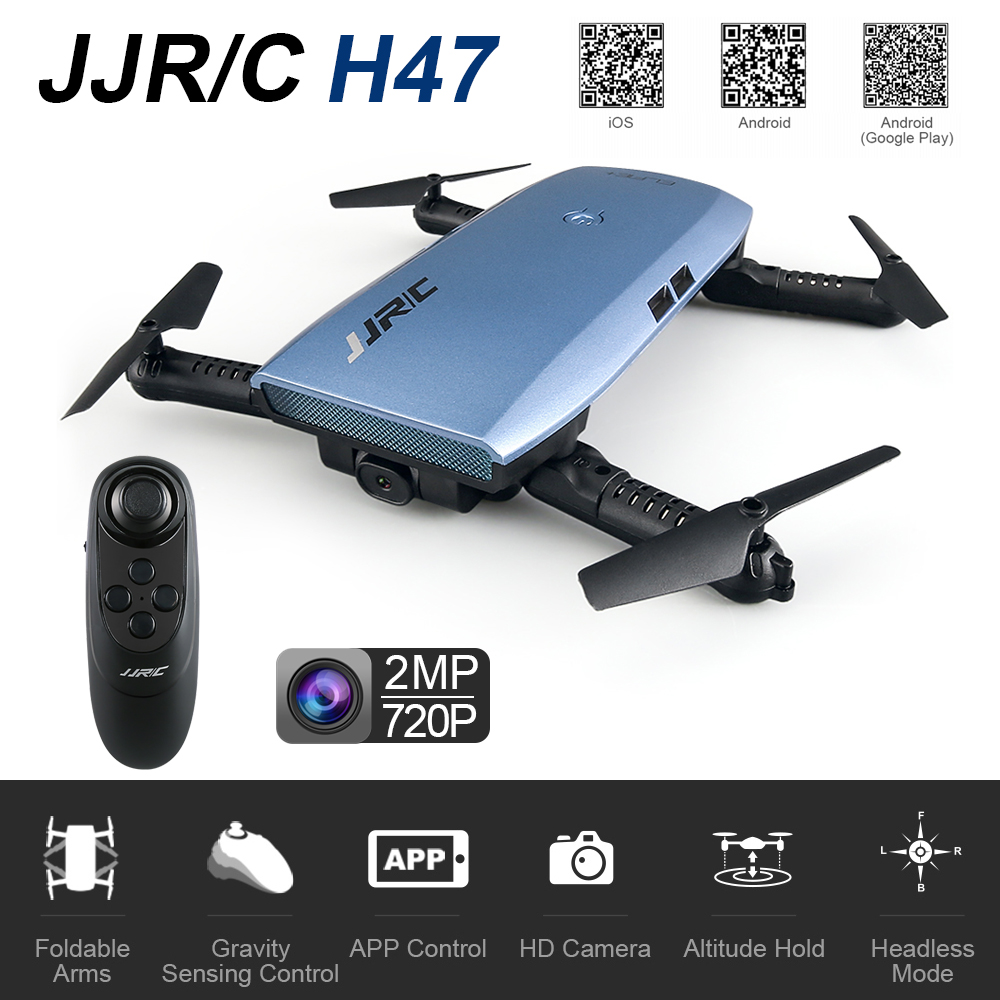 JJRC H47 Fold FPV RC Drone With 720P WIFI Camera 2.4G 6 Axis Headless Mode Altitude Hold One Key Land RC Quadcopter VS H31 H37 jjrc h50ch 2 4 axis rc drone quadcopter uav altitude hold headless mode with 200w fpv camera spare parts f20672