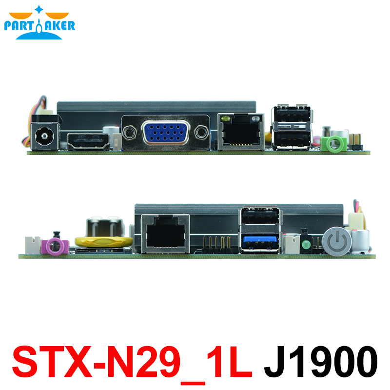 Fanless THIN MINI ITX motherboard with 6*USB 2*COM VGA LVDS Intel J1900 embedded industrial motherboard STX-N29_1L mini itx motherboard adv an tech aimb 212n s6a1e n450 twin 6 fan serial lvds 100% tested perfect quality