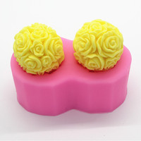 Sm173熱形状花シリコーン型石鹸金型チョコレートステンシルをフォンダンケーキ飾るツー