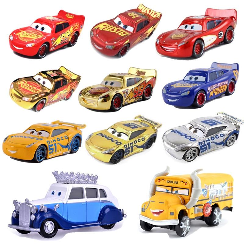 New Disney Pixar Sedan 3 McQueen Queen's Bulldozer Fritra Mires 1:55 Die Cast Metal Alloy Model Toy Car Children's Gifts
