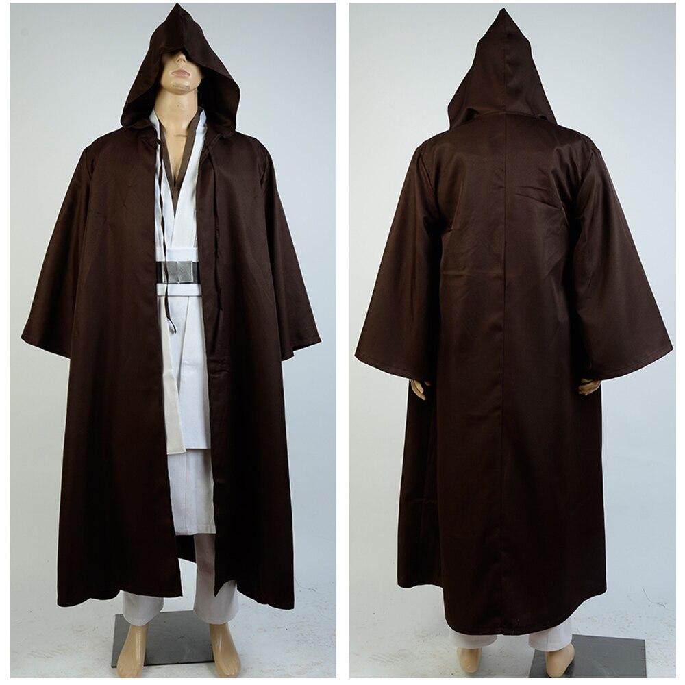 Star Wars Old Obi Wan Kenobi Cosplay Costume Adult Custom-made Halloween Carnival Costume Full Sets