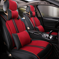 Universal Leather car seat covers For Toyota Corolla Camry Rav4 Auris Prius Yalis Avensis SUV auto accessories car sticks