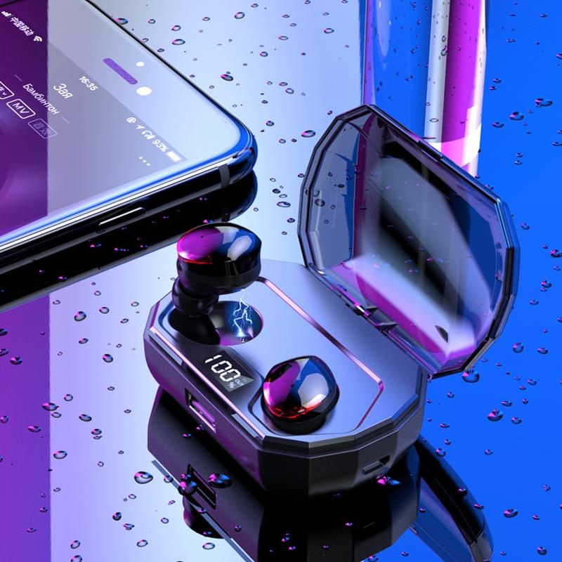 Bluetooth 5.0 True Wireless Earbuds, 3D Stereo Audio in-Ear Bluetooth Earphones, Built-in Mic rockspace eb30