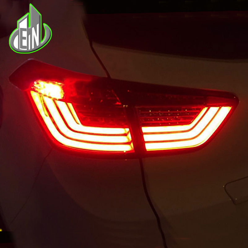 EN Car Styling For Hyundai ix25 Hyundai Creta Taillights Tail lights LED Tail Lamp Rear Lamp DRL+Turn Signal+Brake+Reverse car styling tail lights for hyundai santa fe 2007 2013 taillights led tail lamp rear trunk lamp cover drl signal brake reverse