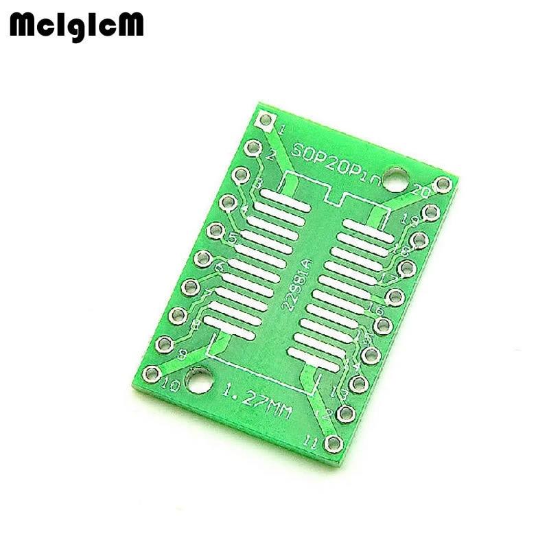 500PCS TSSOP20 SSOP20 SOP20 SMD to DIP20 IC Adapter Converter Socket Board Module Adapters Plate 0