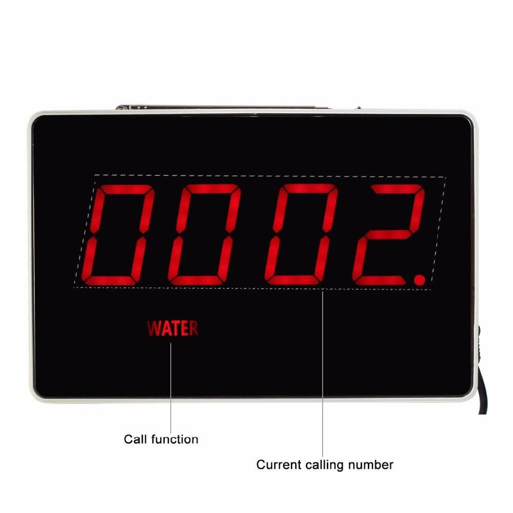 Quatre-Chiffres Affichage Récepteur Hôte Rapports Voix Diffusion Restaurant Pager Système D'appel Sans Fil 433.92 mhz F3303B