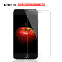 10pcs 0 26mm Screen Protector For IPhone 4 4s 5 5s SE 6 6s Plus Tempered