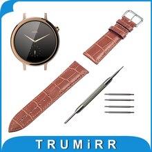 16mm genuina correa de piel de cocodrilo de grano para moto 360 2 42mm mujeres 2015 de smart watch band correa de muñeca pulsera de la correa + herramienta